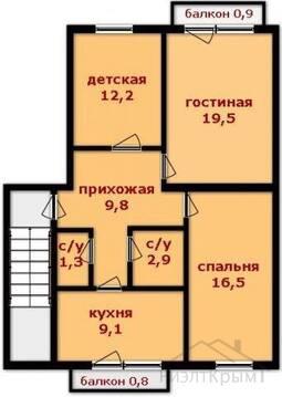 3 к. квартира 73 кв.м, шоссе Симферопольское, д. 24б - Фото 3