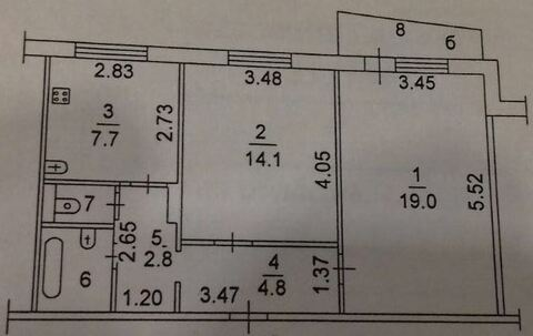 Продажа 2-комнатной квартиры в центре г. Наро-Фоминска. - Фото 3