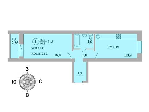 Продажа 2-комнатной квартиры, 41.8 м2, Березниковский переулок, д. 34