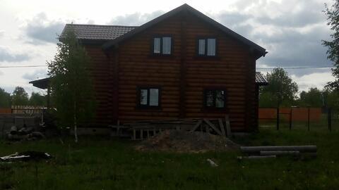 140м2 2хэтажный дом из оциллиндрованного бревна СНТ Трубицино, пруд. - Фото 2