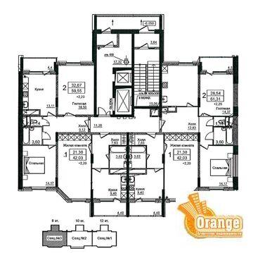 Продаются квартиры в п. Биокомбинат, Жилой дом №1 - Фото 4