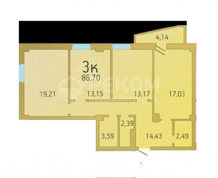 1 комнатная квартира в новом кирпичном доме, пр. Заречный, 39 - Фото 1