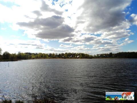 Участок 25 соток на берегу озера, д. Константиново, 98 км от МКАД. - Фото 1