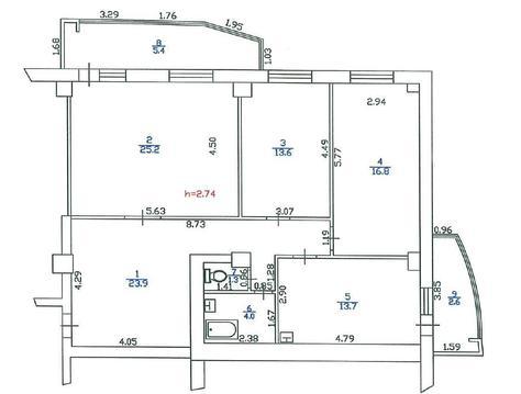 Продается 3 комн квартира 106,5м2_ленск_первомайская_32а - Фото 5