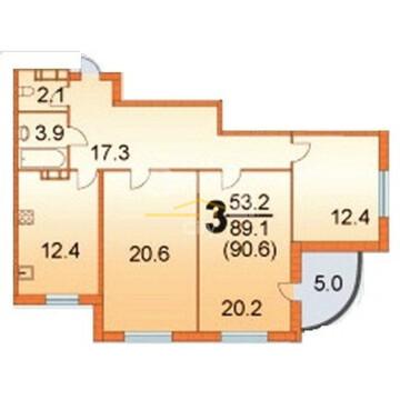 3-комнатная квартира, город Пермь, ул. Грибоедова, 72 - Фото 2