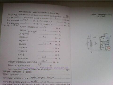 Продам 1-к.кв.п. г.т. Гвардейское. ул.Карла -Маркса - Фото 4
