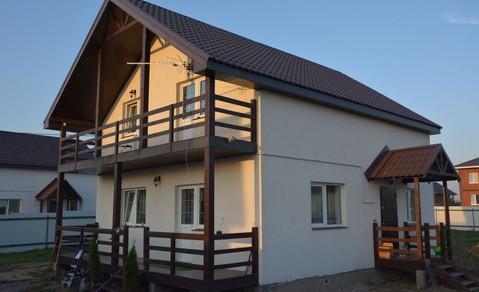 Продается новый блочный дом 174м2 участок 8,5 соток, д.Малышево - Фото 1