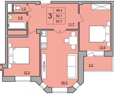 Продам квартиру в Лобне. - Фото 2