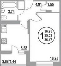 1-комнатная квартира на Тутаевском ш. - Фото 5