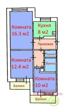 3-х ком. квартира в хорошем состоянии в центре Харьковской горы - Фото 1