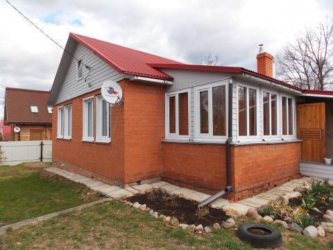 Кирпичный дом с г/о на участке 10 соток на Волге в г. Плёс - Фото 1