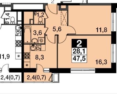 Продам 2-к квартиру, Бородино, жилой комплекс Ап-квартал Скандинавский . - Фото 2