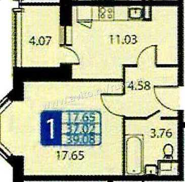1-к квартира, 41 м, 18/22 эт. ул. Курыжова, д, 28 - Фото 1