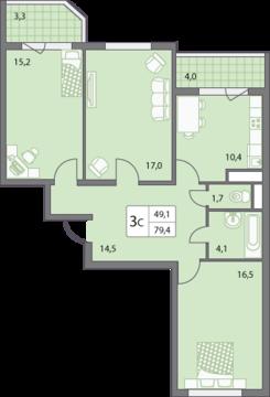 Продаю трёхкомнатную квартиру в микрорайоне Правобережье. - Фото 4