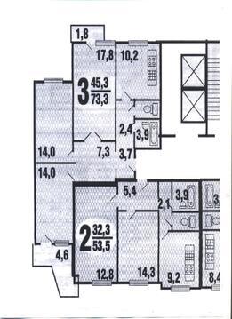 Прямая продажа 3-кв. Ленинский пр-т, д.129, к.3 за 12,8 милл. рублей - Фото 3