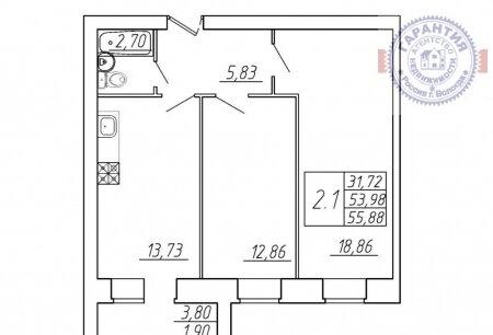 Продажа квартиры, Вологда, Ул. Московское шоссе, Купить квартиру в Вологде по недорогой цене, ID объекта - 320185624 - Фото 1