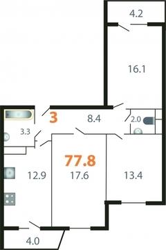 Продается 3-комнатная квартира на ул.Добросельская, д.186а - Фото 1