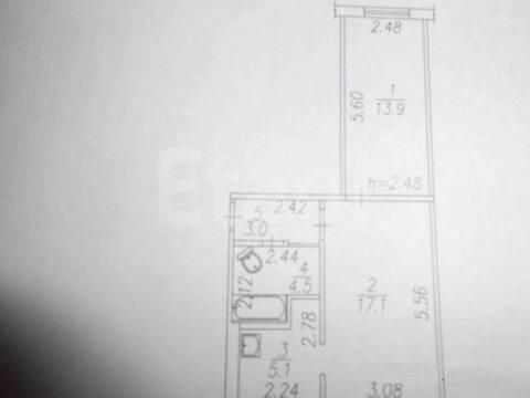 Продажа двухкомнатной квартиры на улице Кирова, 95 в Новокузнецке, Купить квартиру в Новокузнецке по недорогой цене, ID объекта - 319828341 - Фото 1