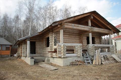 "Бревенчатый дом 120 кв.м. в д. Зиновкино, ДНП ""Сиеста"" - Фото 1"