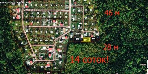 Участок с выходом в лес в элитном кп Киевская Русь - Фото 3