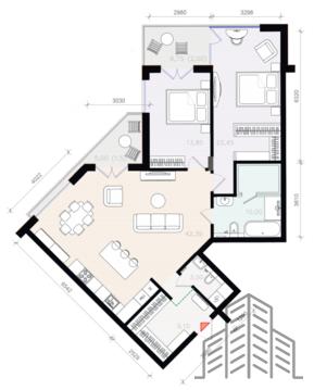 Эксклюзивная 3 комнатная квартира в жилом комплексе русская европа - Фото 3