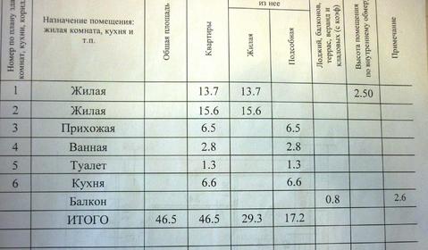 2 ком квартира (46,5 м2) в г. Новочебоксарск. - Фото 3