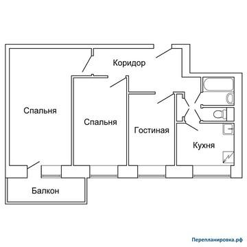 Продается трехкомнатная квартира! - Фото 1