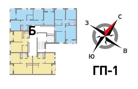 Продажа трехкомнатная квартира 74.28м2 в ЖК Солнечный гп-1, секция б - Фото 2