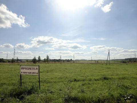 Участок 12 соток ДНП в Тарусском районе, деревня Юрятино - Фото 1