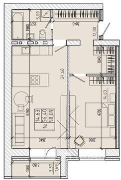 Продаю1комнатнуюквартиру, Абакан, улица Комарова, 3, Купить квартиру в Абакане по недорогой цене, ID объекта - 322749105 - Фото 1