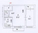 2-комнатная квартира на Новочеремушкинской - Фото 1