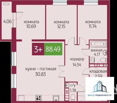 Объявление №65278038: Квартира 3 комн. Тюмень, 2-я Луговая, 22 корпус 1,