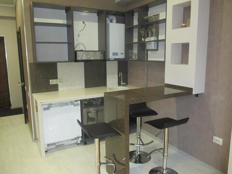 Квартира студия с ремонтом и мебелью в городе Сочи мик-он Новый Сочи - Фото 4