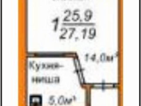 1 420 000 Руб., Продажа однокомнатной квартиры в новостройке на улице Пушкина, 108 в ., Купить квартиру в Благовещенске по недорогой цене, ID объекта - 319893313 - Фото 1