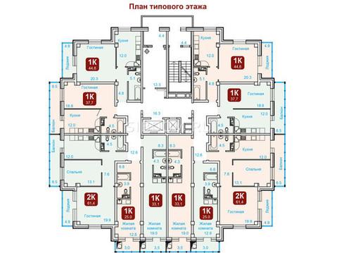 """2-комн. квартира 61.4 кв.м. в ЖК""""Октябрьская Ривьера"""" всего 2000 т.р - Фото 2"""