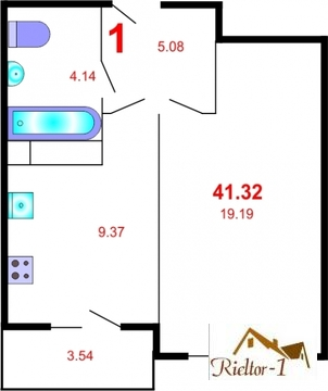 Продажа 1-комн. квартиры в новостройке, 41.3 м2