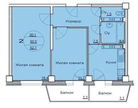 Продается 2-х комнатная квартира в новостройке (Советском район)