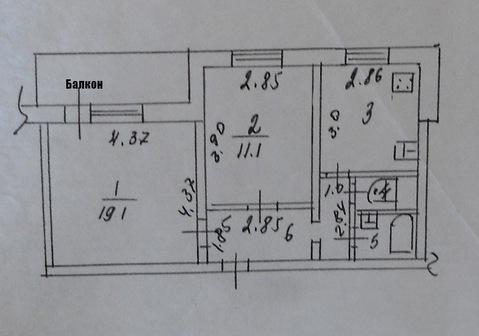 Продаю 2-х комнатную квартиру, 204 квартал, улица. Чехова 83 - Фото 1