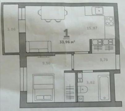 "Объявление №52192280: Квартира 1 комн. Тула, ЖК""Балтийский"", 1,"