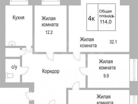Продажа четырехкомнатной квартиры на улице Тольятти, 72 в Новокузнецке, Купить квартиру в Новокузнецке по недорогой цене, ID объекта - 319828684 - Фото 1