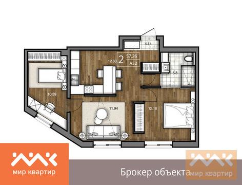 Продается 2к.кв, Большая Зеленина ул. - Фото 1