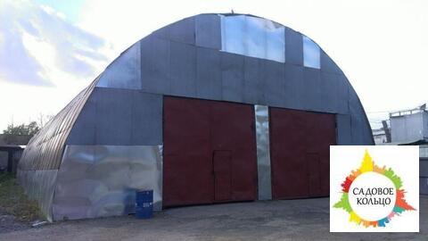 Ангар 500 м2, можно пополам, холодный, территория офисно-складского ко - Фото 3