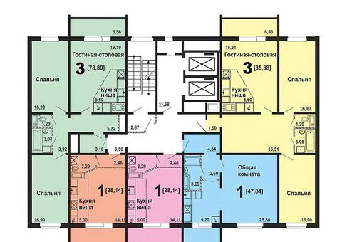 2-к квартира, 85 м, 2/16 эт. Краснопольский проспект, 11 - Фото 3