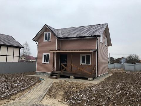 Новый дом, д. Гришенки, Чеховский район, 50 от МКАД - Фото 1
