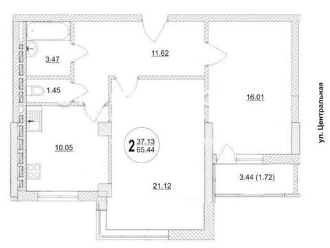 4 645 000 Руб., Продажа двухкомнатной квартиры на улице Гастелло, 32 в Самаре, Купить квартиру в Самаре по недорогой цене, ID объекта - 320163559 - Фото 1