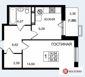 1-комнатная квартира москва новые ватутинки калужское шоссе