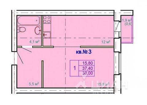 Продаю1комнатнуюквартиру, Кострома, Лесная улица, 11, Купить квартиру в Костроме по недорогой цене, ID объекта - 323531153 - Фото 1