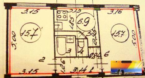 Лучшая цена. 2-х комнатная квартира-брежневка в Прямой продаже - Фото 1