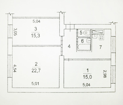 3-комнатная квартира. Октябрьская, 27 - Фото 2