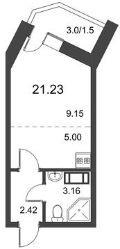Продам студию. Дорога Жизни ш. к.3, Купить квартиру в Всеволожске по недорогой цене, ID объекта - 318418505 - Фото 1